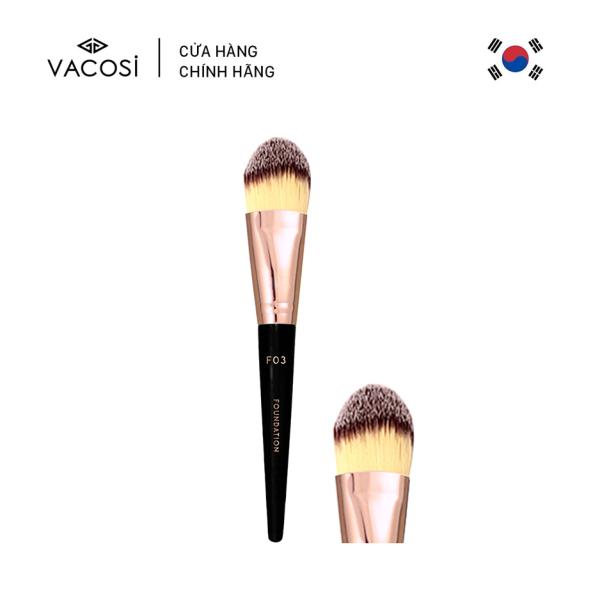 Vacosi Cọ Nền Đầu Dẹp Bản To Foundation Brush F03 nhập khẩu