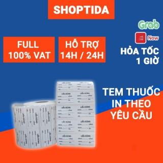 Tem thuốc nhãn thuốc in sẵn liều dùng uống thuốc dược phẩm cho hiệu thuốc y dược Shoptida thumbnail