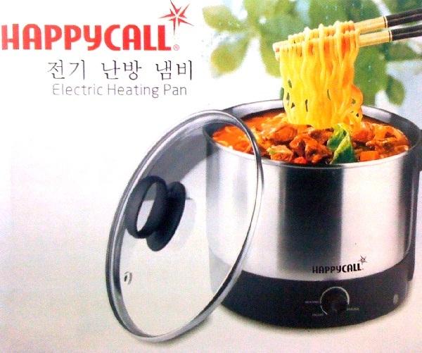 Ca nấu lẩu,ca nấu mi,ca siêu tốc,ca đa năng siêu tốc mini Inox Happy Call 1.5L