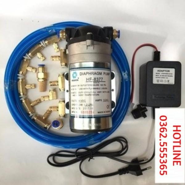 Bảng giá Bộ máy phun sương 10 vòi phun 25 mét dây - Bộ phun sương hoàn chỉnh bơm HF 8377 - BPS.10.25 Điện máy Pico