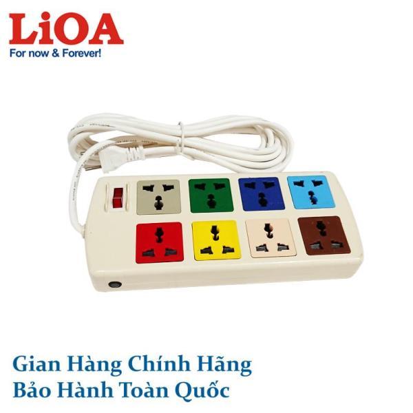 Ổ cắm điện LiOA đa năng 8 ổ cắm, 3 mét 8D32N 8D32WN