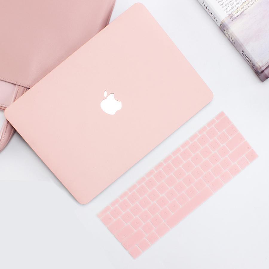 Bảng giá Combo Case Ốp Macbook Air 13.3 Kèm Phủ Hồng Pastel (Model A1466) Phong Vũ