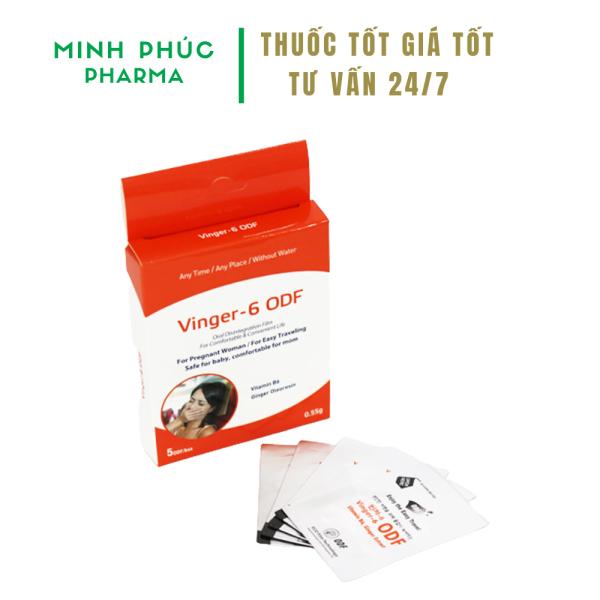 5 miếng Vinger 6 ODF - Miếng ngậm giảm nôn nghén tốt cho bà bầu