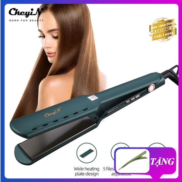 Máy Duỗi Tóc Chuyên Nghiệp CkeyiN HS312ZQ Làm nóng nhanh Có thể điều chỉnh nhiệt độ Chất liệu hợp kim Titan Dạng tấm rộng Tạo kiểu tóc thẳng giá rẻ