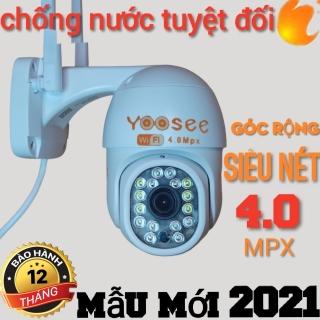CAMERA NGOÀI TRỜI YOOSEE 3.0 - PTZ 14 LED ( 8 ĐÈN SÁNG 6 LED )MẪU MỚI - GÓC SIÊU RỘNG ĐỘ PHÂN GIẢI 2K ULTRA HD (2304 1296)- XOẠY 360 - CHÔNG NƯỚC TUYỆT ĐỐI - BẢO HÀNH 1 NĂM thumbnail