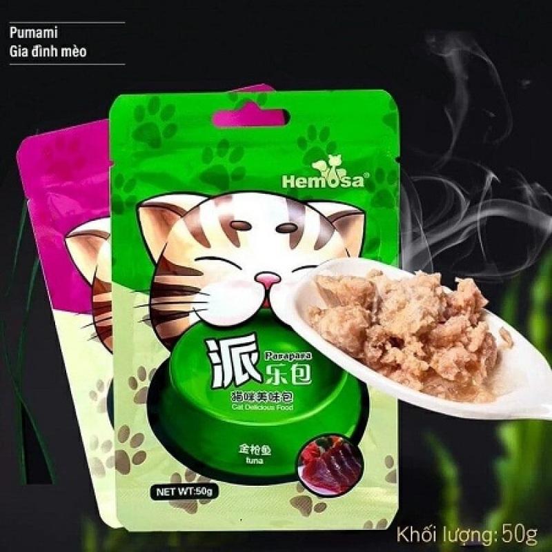 Thức Ăn Cho Mèo Cao Cấp Dạng Gói Patê Mềm Hemosa Nhiều Mùi Vị Thơm Ngon Bổ Dưỡng