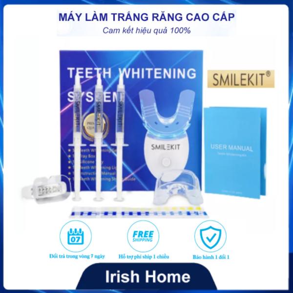 Máy làm trắng răng tự nhiên tại nhà Smile Kit, máy tẩy trắng răng bằng kem đơn giản, nguyên liệu từ thiên nhiên giúp răng trắng sáng, hết ố vàng,hơi thở thơm mát, ngăn ngừa vi khuẩn sâu răng Hiệu quả rõ ràng chỉ sau 1 thời gian
