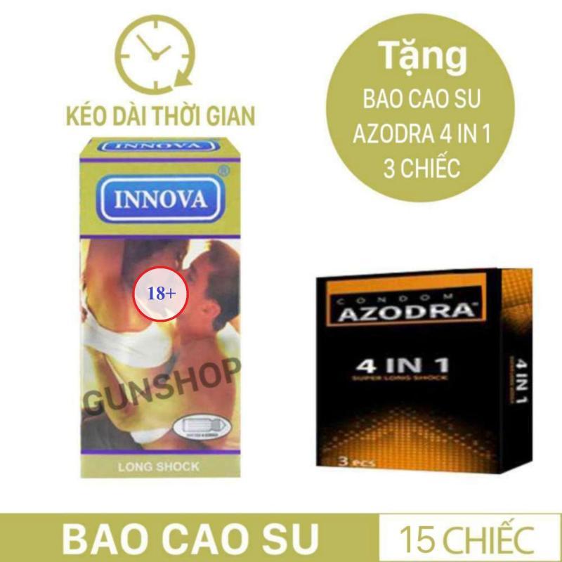 Combo 1 hộp Bao Cao Su Innova Vàng - Gân Gai-kéo dài thời gian Cực tốt tặng 1 hộp AZODRA 3C