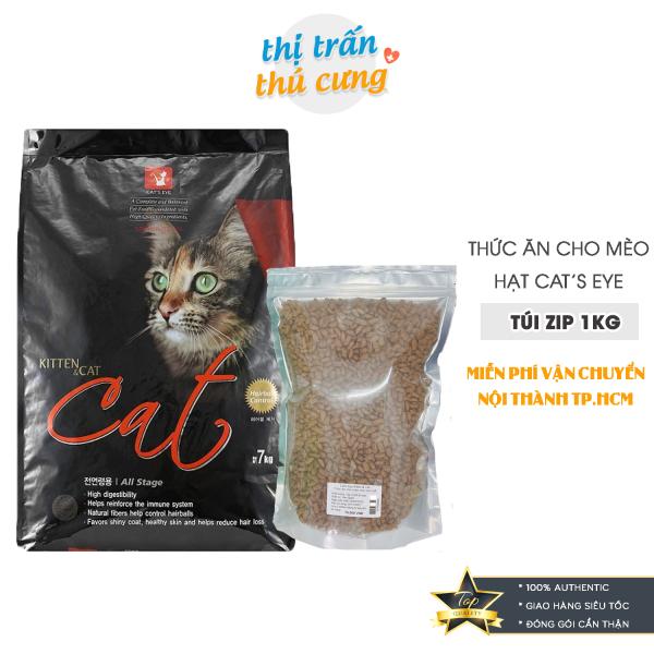 Thức Ăn Hạt Cho Mèo Hạt CatS Eye - Túi 1Kg Hạt Cat Eye Siêu Tiết Kiệm  Cateye