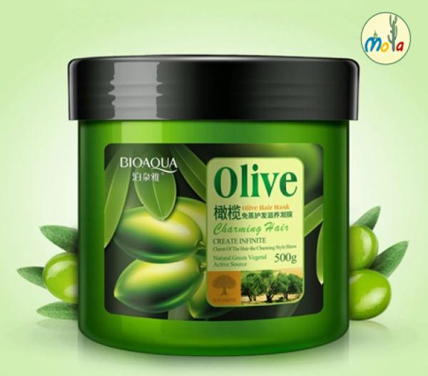 Kem ủ tóc Olive ngăn rụng tóc phục hồi hư tổn Chính hãng 500g Mola