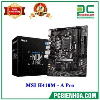 Mainboard MSI H410M - A Pro ( LGA1200 M-ATX 2xDDR4 ) thumbnail