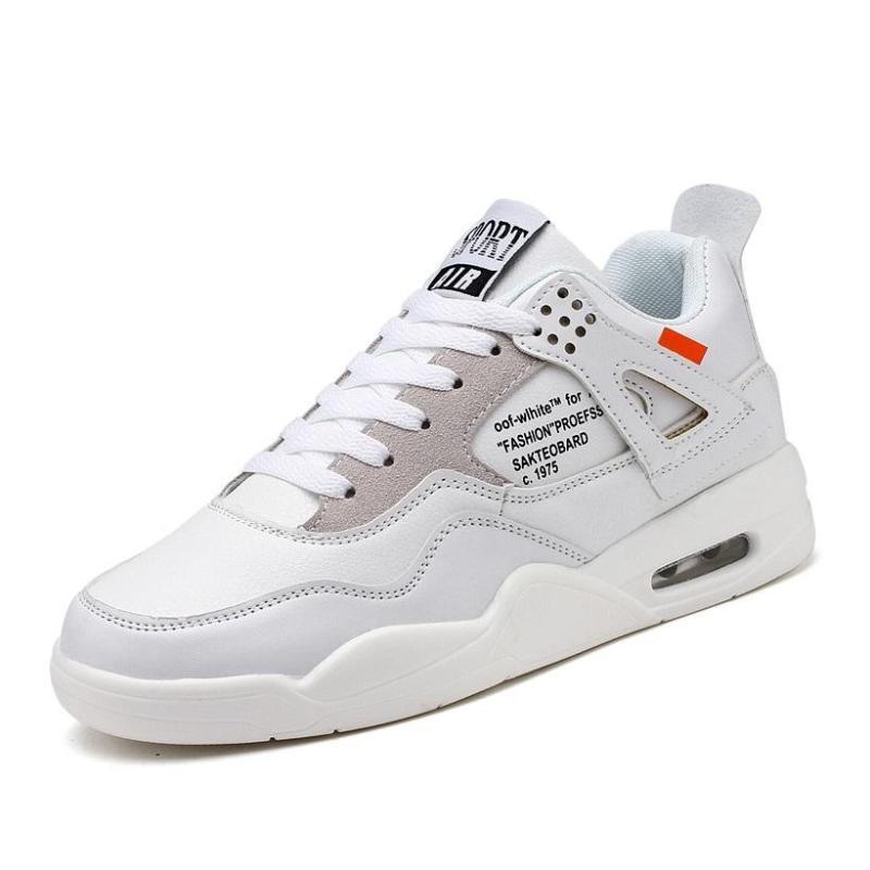 Giày Sneaker Nam BAZAS BZ1191T Màu Trắng