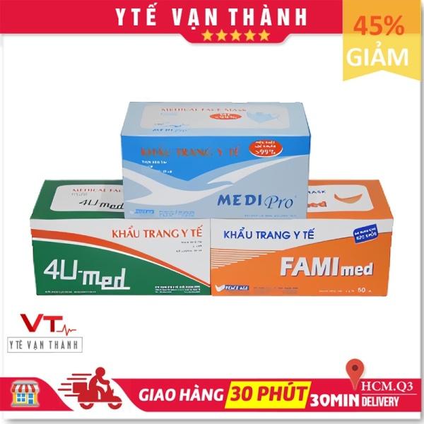 ✅ Khẩu Trang Y Tế: Medi Pro, 4U, FAMI Med (Hộp 50 cái) - Công Ty Thời Thanh Bình - [Y Tế Vạn Thành] - Mã SP: VT0371 cao cấp