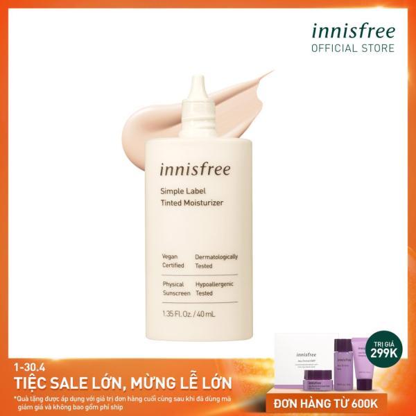 Kem lót thuần chay innisfree Simple Label Tinted Moisturizer 40ml giá rẻ