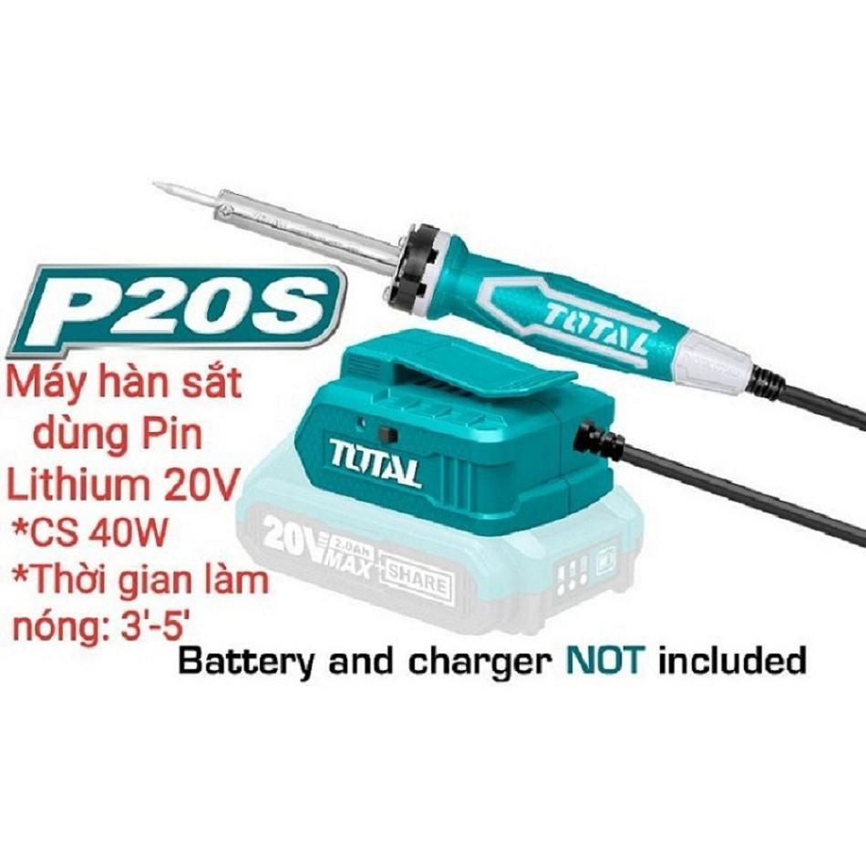 Mỏ hàn chì dùng pin Lithium 20V TSILI2001 (ko kèm pin sạc)
