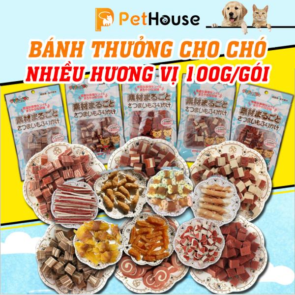 Bánh thưởng cho chó (Nhiều loại) 100gr/túi Đồ ăn cho chó mèo thú cưng