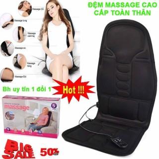 Đệm massager HANLN 9 bi 5 motor toàn thân - Ghế Mát Xa Đa Năng Cao Cấp Toàn Thân giảm stress, lưu thông khí huyết, giảm đau nhức toàn cơ thể, sau khi làm việc. thumbnail