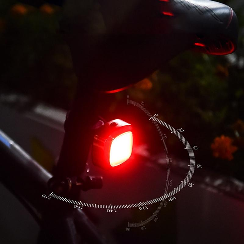 Hot Bike Bicycle Taillight Rear Tail Safety Warning LED Smart Light Rechargeable