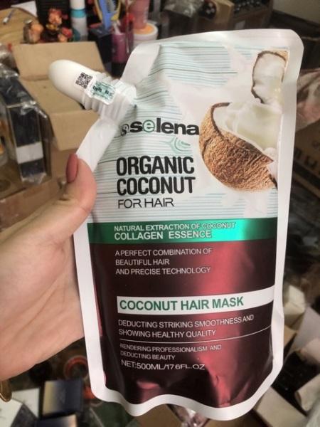 Kem Hấp ủ phục hồi tinh chất sữa Dừa Selena organic 500ml