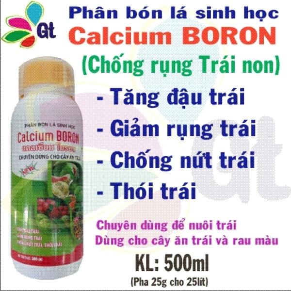 (Shop Gt19) Phân bón lá Sinh học Calcium boron - KL: 500ml Chống rung trái non