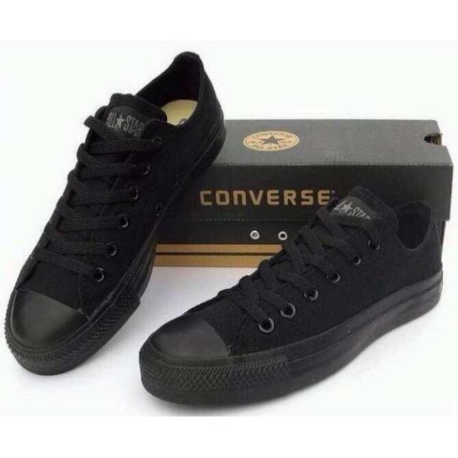 Giày CV CỔ THẤP sneaker nam nữ màu đen TT-Shoes giá rẻ