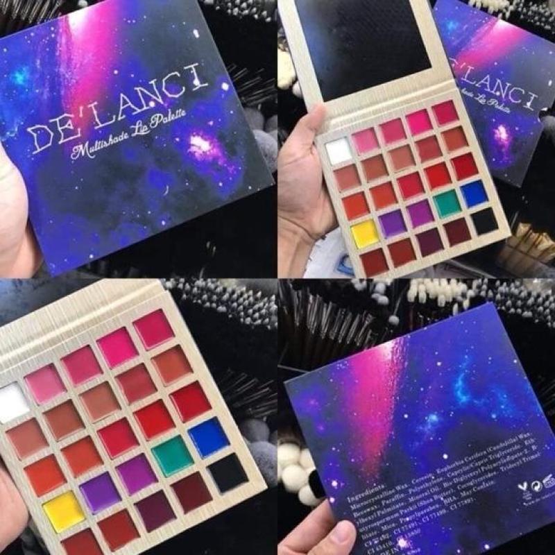 Bảng son 25 màu Delanci siêu đẹp