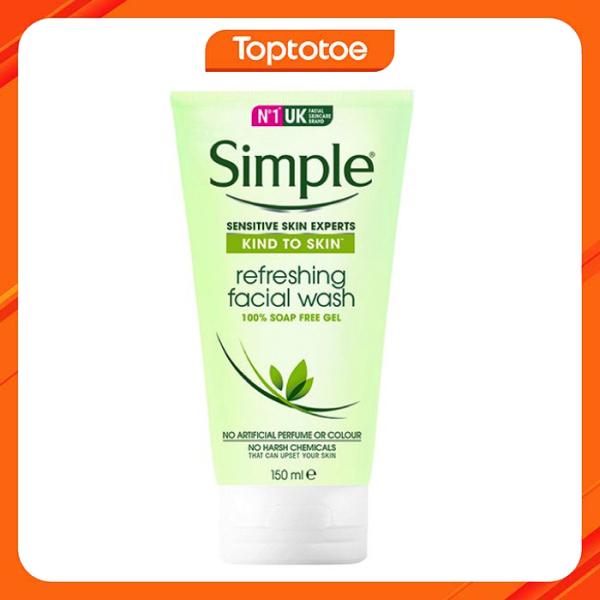Gel Rửa Mặt Simple Kind To Skin Refreshing Facial Wash 150ml