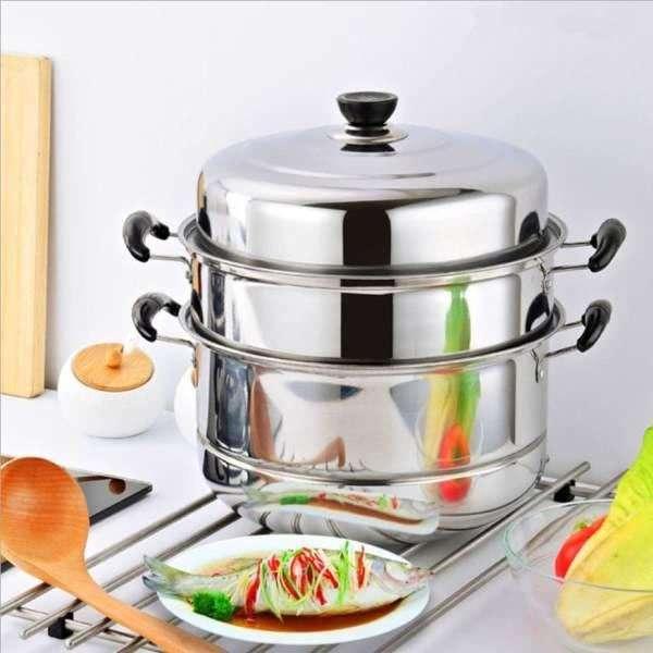 Nồi Hấp Inox Đa Năng 3 Tầng Size 28cm Hàng cao cấp dùng mọi loại bếp kể cả bếp từ