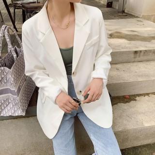 Áo Blazer tay dài màu trơn cho nữ, áo blazer nư dáng suông rộng chất vải cao cấp kiểu hàn quốc 2 cúc thumbnail
