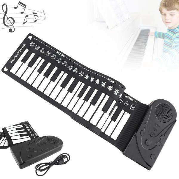 Slade 49 Phím Điện Tử Di Động Silicon Dẻo Tay Roll Up Piano Loa Tích Hợp Bàn Phím Đàn Organ