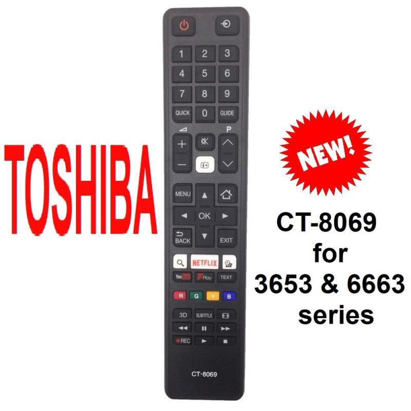 Bảng giá Remote điều khiển tivi TOSHIBA smart CT-8069 dòng 6653 và 3653