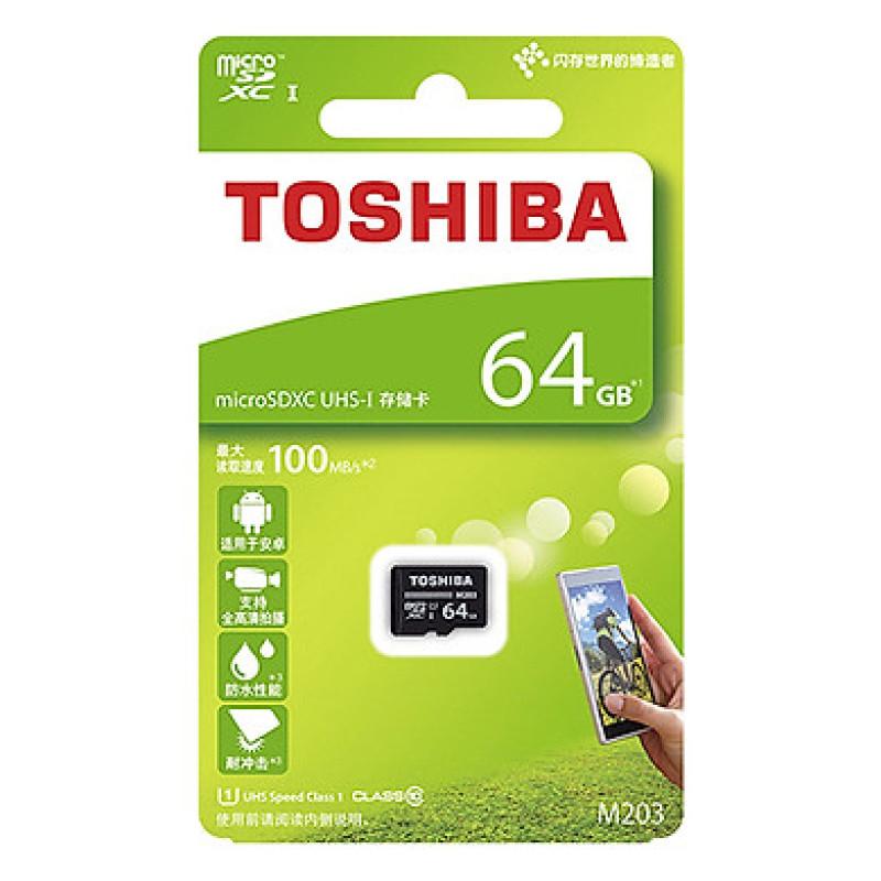 (BẢO HÀNH 5 NĂM CHÍNH HÃNG) Thẻ nhớ Toshiba 64GB MicroSDHC UHS-I U1 100MB/s NEW 2020