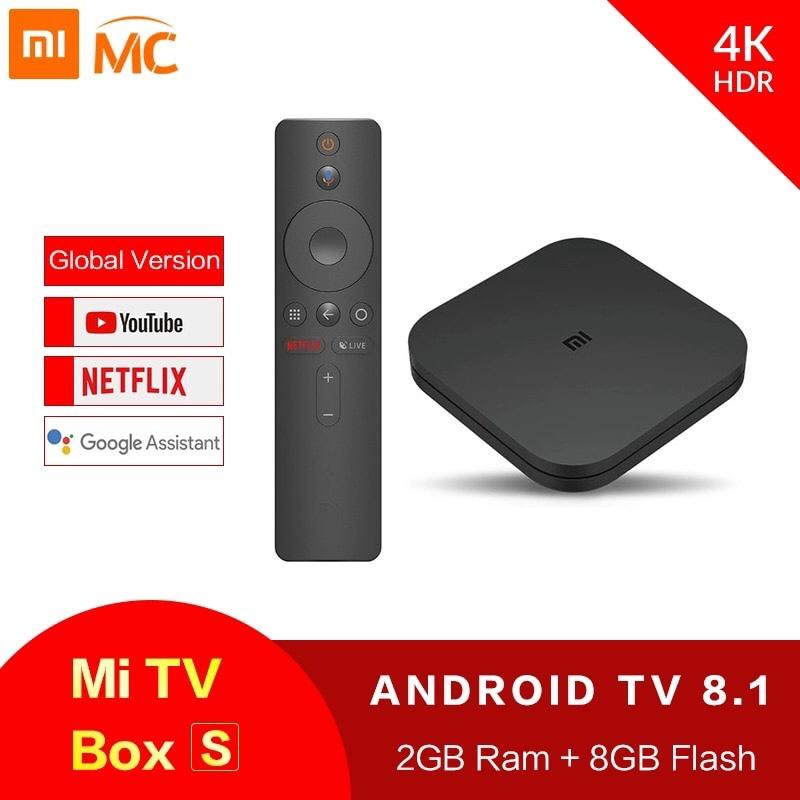 Bảng giá Xiaomi Mi Box S 4K ( Bản Tiếng Việt ) TV Box Cortex-A53 Quad Core 64 bit Mali-450 Android 8.1 2GB+8GB HDMI2.0 2.4G/5.8G WiFi BT4.2 Set Top Box