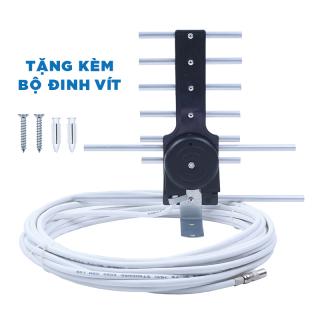 Anten thông minh truyền hình số DVB T2 có sẵn dây 15m thu tín hiệu cực kỳ ổn định tặng kèm đinh vít thumbnail