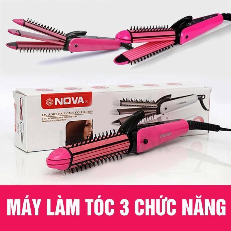 Máy làm tóc 3 trong 1 XOĂN - DẬP XÙ -LÀ TÓC.  Thiết kế nhỏ gọn bỏ túi xách dễ dàng giá rẻ