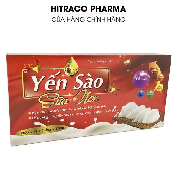 Siro Yến Sào Sữa Non giúp ăn ngủ ngon, tiếu hóa tốt, tăng đề kháng cho trẻ từ 6 tháng tuổi - Hộp 20 ống giá rẻ