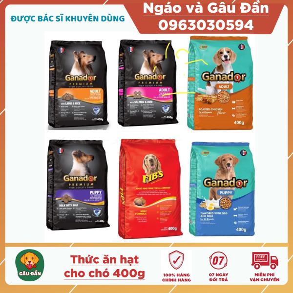 Gói 400gr Thức ăn cho chó Ganador - FIBs - adult - puppy