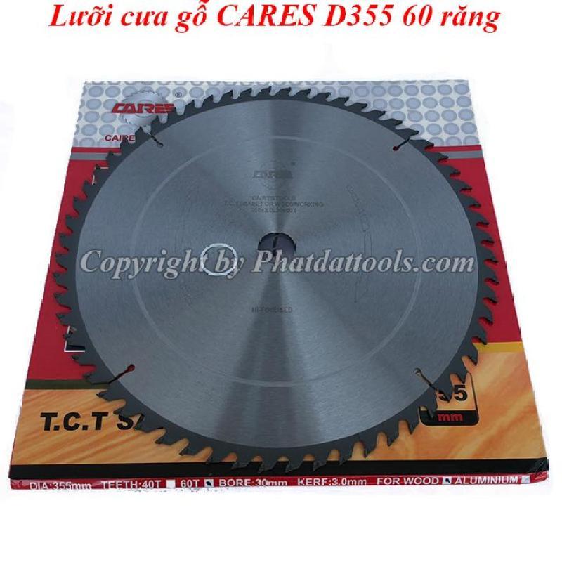 Lưỡi cưa gỗ CARES D355mm 60 răng cao cấp-Thương hiệu Đức