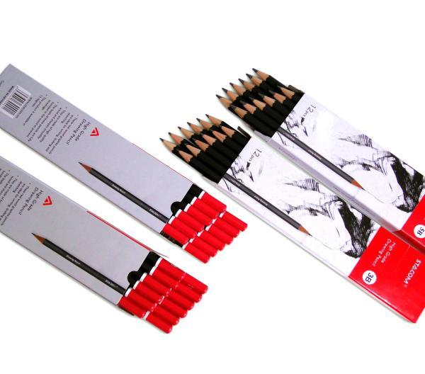 Bút chì kỹ thuật Stacom 2B/3B/4B/5B/6B/HB PC101 ( Hộp 12 chiếc )