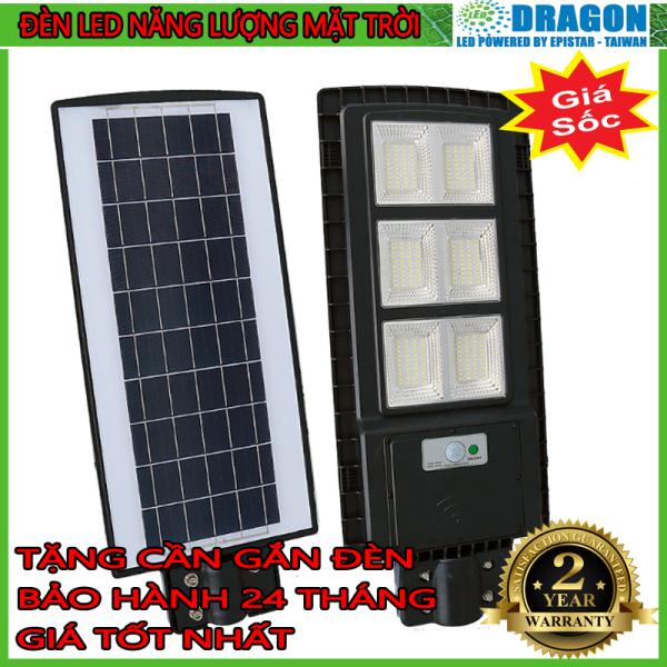 Đèn led năng lượng mặt trời công suất 90w, kèm cảm biến tự động, bảo hành 12 tháng, tặng tay vịn gắn đèn, thương hiệu Dragon