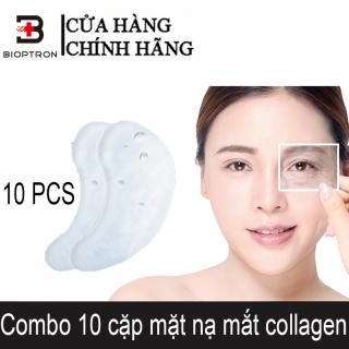 Bioptron 10 cặp mặt nạ mắt collagen Mặt nạ dưỡng mắt trị thâm hộp Làm sáng quầng thâm thumbnail