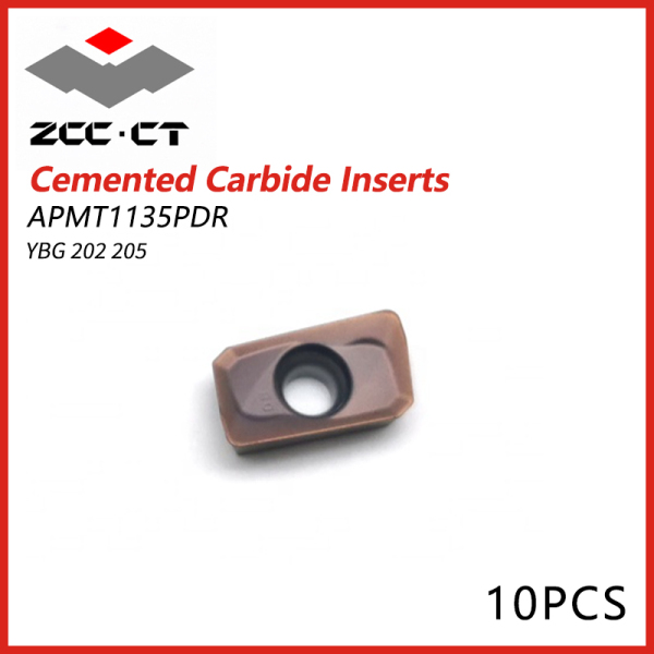 ZCCT Cemented Carbide Inserts  APMT1135PDR YGB202 YGB205