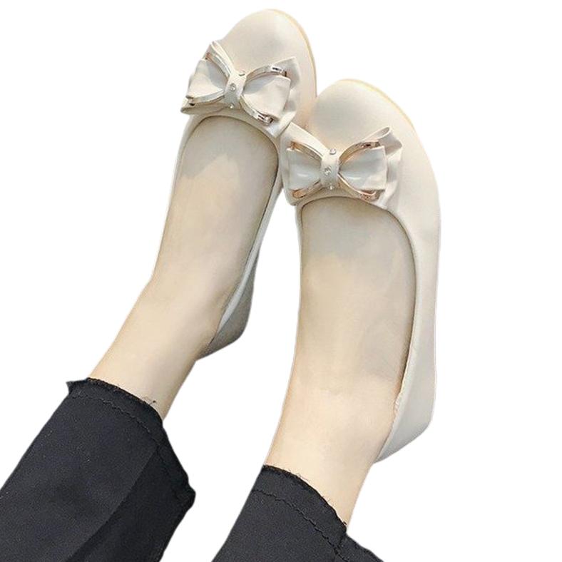 Veecome Sale Giày Đế Bằng Cho Nữ Giày Đế Xuồng Mũi Tròn Giày Lười Giản Dị giá rẻ