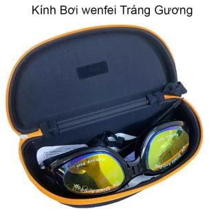 Kính Bơi, Kính Bơi Người Lớn Trẻ Em, kính bơi wenfei trùm kín mắt chống nước Tráng Bạc phản quang Công nghệ Super Anti-Fog ngăn chặn tình trạng hấp hơi gây mờ kính- Chống Tia UV thumbnail