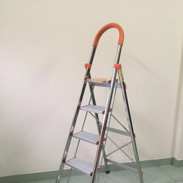Thang nhôm ghế tay vịn 456 bậc - cao 0.95 1.25 1.5m thang chính hãng Nikita mã DL040506