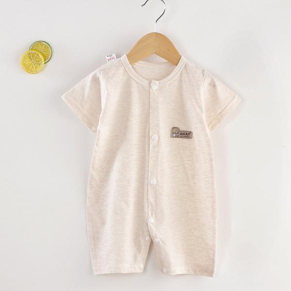 Bộ bobysuit 100% cotton cao cấp chuẩn xuất Hàn thoáng khí vải mỏng nhẹ cho bé 0 đến 24 tháng tuổi mùa hè mát mẻ