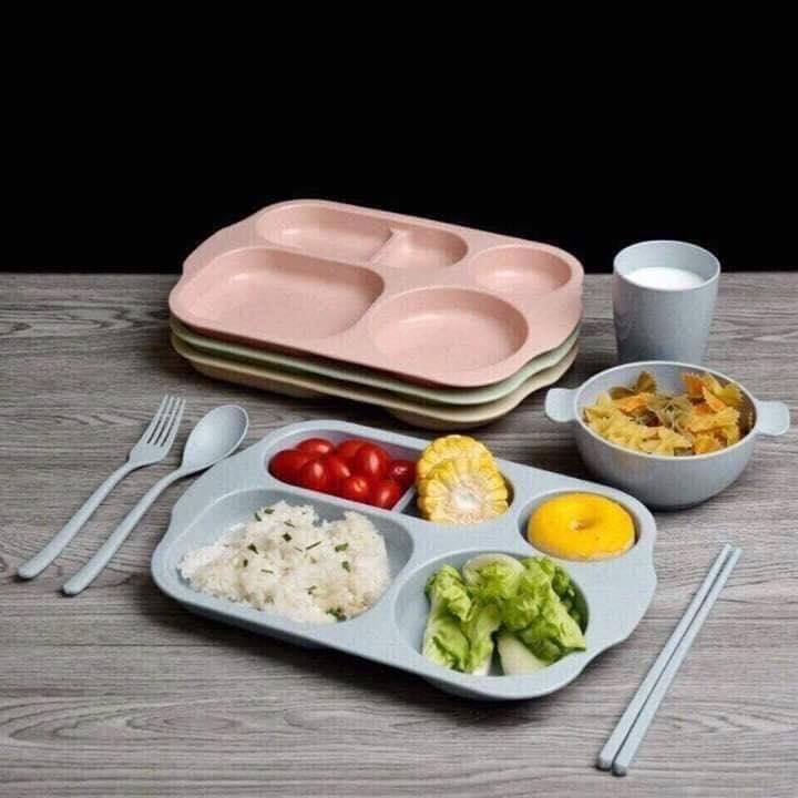 Khay ăn Dặm Kiểu Nhật Hình, Khay ăn Dặm Cho Trẻ + Tặng Thêm Thìa Siêu Khuyến Mãi