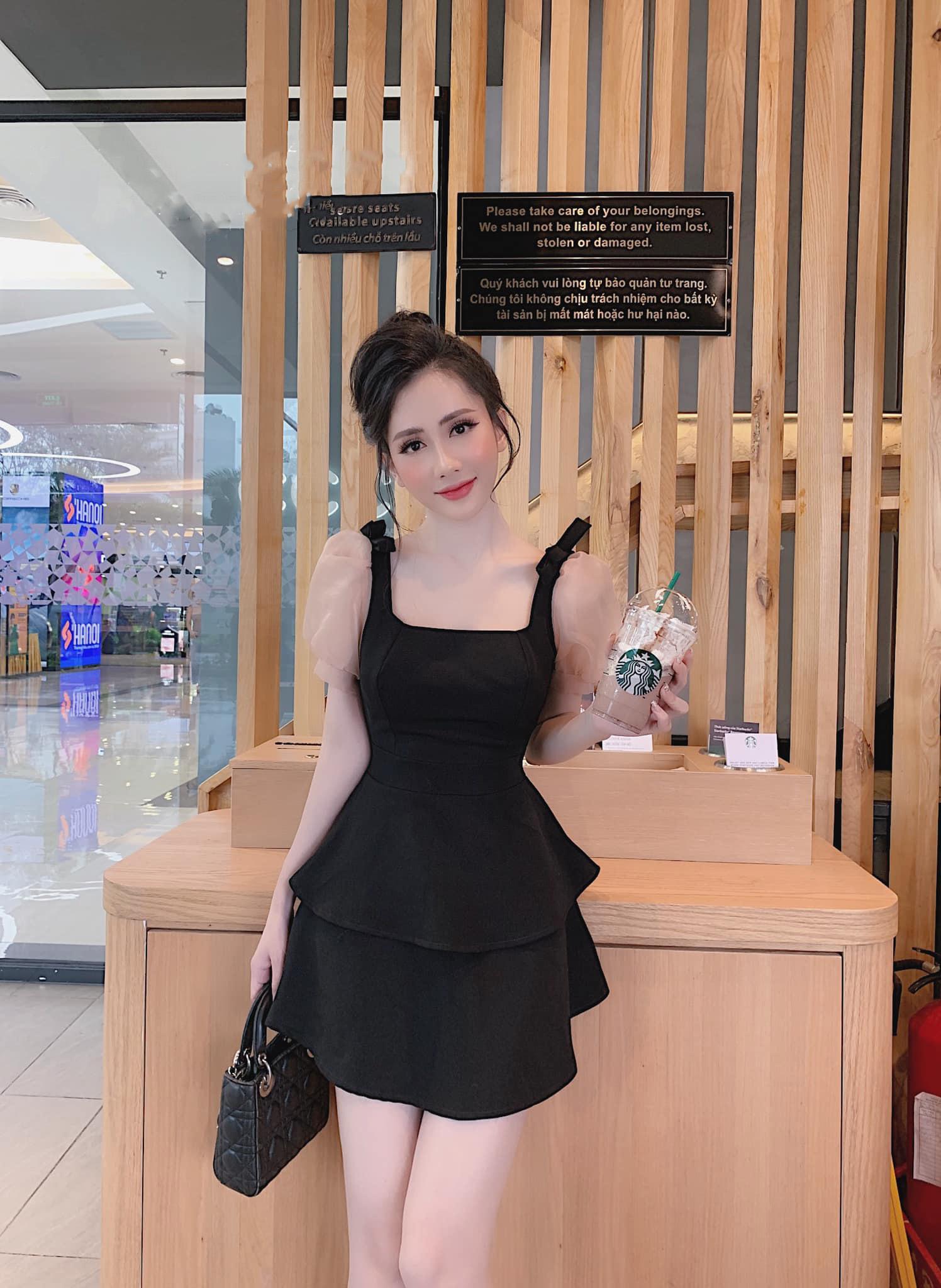 Đầm Xòe Công Chúa 2 Tầng Tay Búp Cổ Vuông Siêu Xinh Kiêu Sa (Có Sẵn Mút Ngực) Giá Siêu Cạnh Tranh