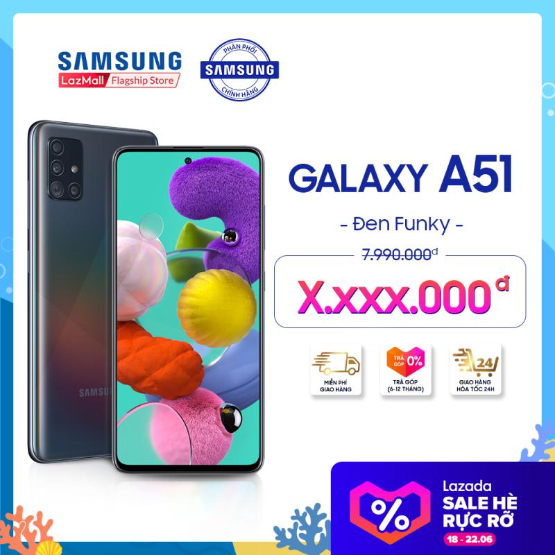 Điện thoại Samsung Galaxy A51 128GB (6GB RAM) - Màn hình vô cực 6.5 inch Infinity-O chuẩn FHD+ Chụp ảnh đỉnh cao với cụm 4 Camera ấn tượng + Pin 4,000mAH - Hàng phân phối chính hãng.