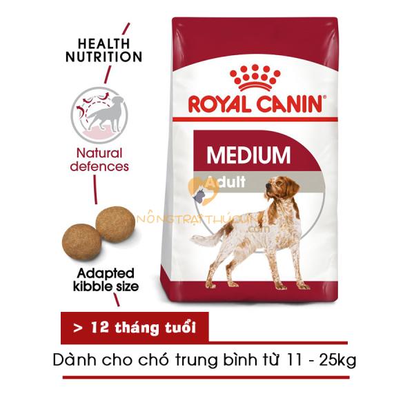 Thức ăn hạt cho chó Royal Canin MEDIUM ADULT (khách chọn khối lượng) - [Nông Trại Thú Cưng]